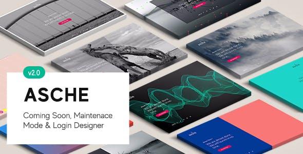 Asche Plugin - Coming Soon, Maintenance Mode, Login Designer