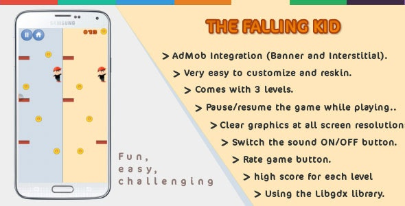 The Falling Kid | Android | Games - CodeCanyon Item for Sale