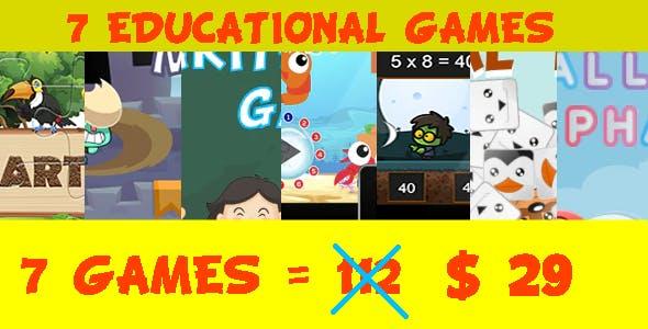 Bundle 7 Educational Games (HTML5)