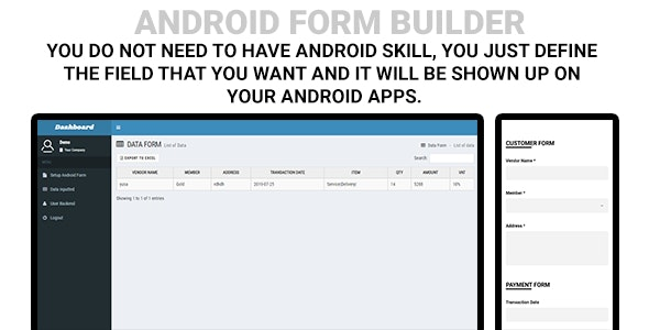 Android Form Builder - CodeCanyon Item for Sale