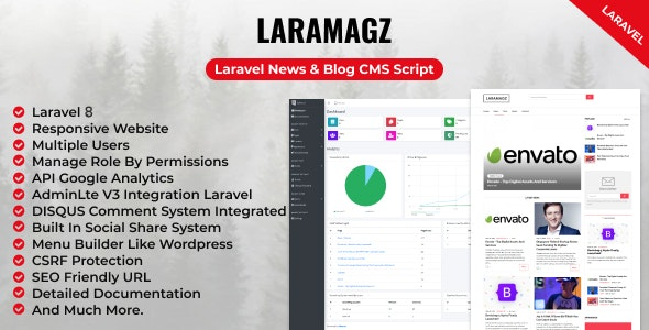 Laramagz - Laravel News & Blog CMS Script - CodeCanyon Item for Sale