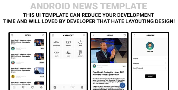 Android News Template