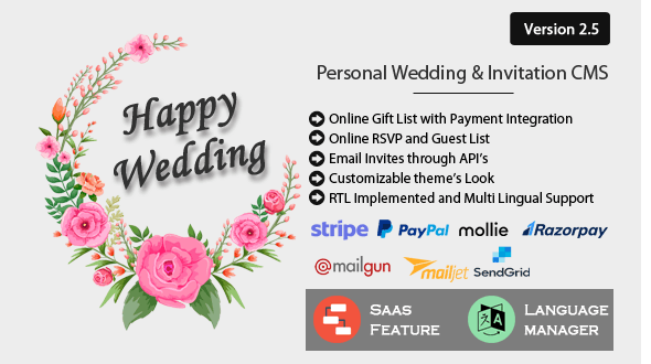 Happy Wedding - Personal Wedding & Invitation CMS - CodeCanyon Item for Sale