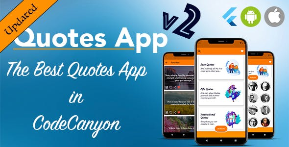 [UPDATED] Quotes Android-IOS Flutter Quotes App with AdMob + Web Admin Panel for Customisation