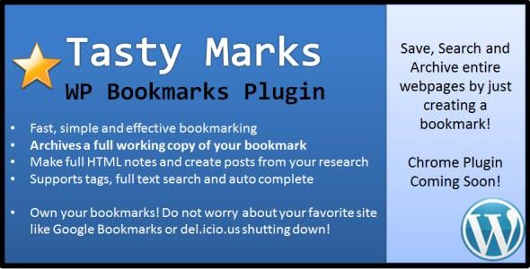 Tasty Marks - WP Bookmarks Plugin