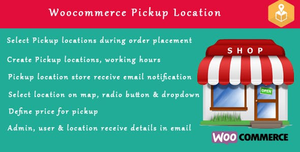 Woocommerce Pickup Locations (Local Pickup) wordpress plugin