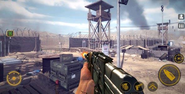 Commando Sniper CS War 3D Unity Game