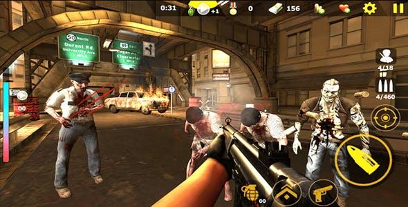 Zombie Shooter Survival killer 3D Unity Game