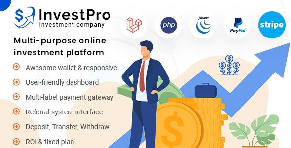 InvestPro – Wallet & Banking Online Investment Platform - CodeCanyon Item for Sale
