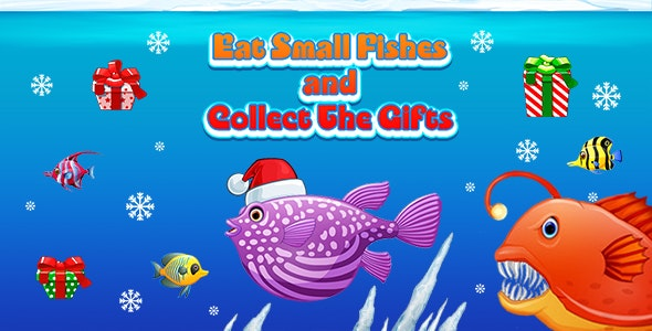 Eat Small Fish and Collect The Gifts (CAPX and HTML5) Christmas Game - CodeCanyon Item for Sale