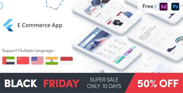 Flutter E-Commerce UI KIT Template in flutter black friday
