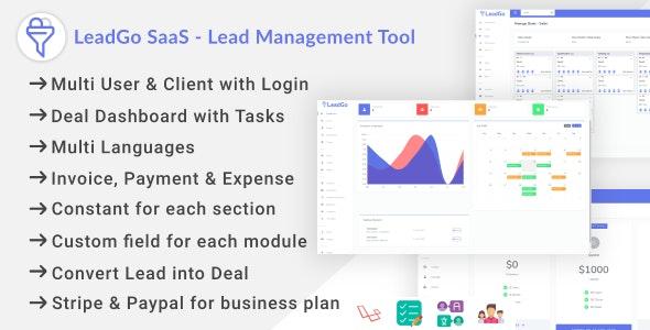 LeadGo SaaS - Lead Management Tool - CodeCanyon Item for Sale