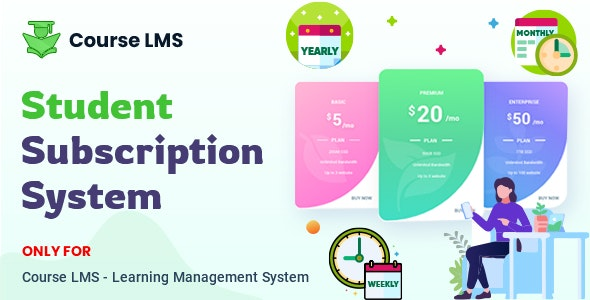 Course LMS Student Subscription addon - CodeCanyon Item for Sale