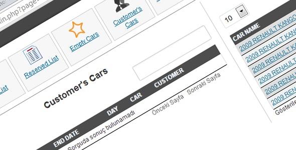 Car Rental - CodeCanyon Item for Sale