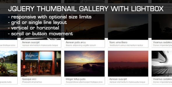 JQuery Thumbnail Gallery With LightBox