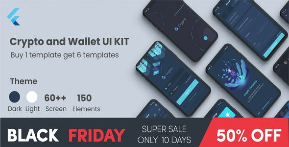 Flutter Crypto and Wallet UI KIT Template in flutter crypto apps black friday