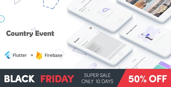 Flutter Getevent, Event Country in Flutter event apps black friday - CodeCanyon Item for Sale