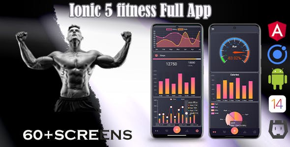 Ionic 5 / Angular 11 Fitness  Template/Full App | Starter App