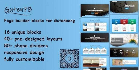 GutenPB - Page builder blocks for Gutenberg - CodeCanyon Item for Sale