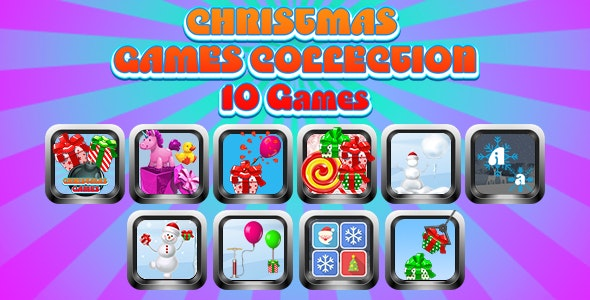 Game Collection 10 (CAPX and HTML5) 10 Games of Christmas - CodeCanyon Item for Sale