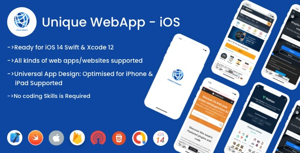 Unique WebView For iOS - WebView URL/HTML to iOS app - CodeCanyon Item for Sale