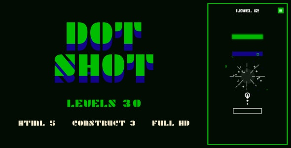 Dot Shot - HTML5 Game (Construct3) - CodeCanyon Item for Sale