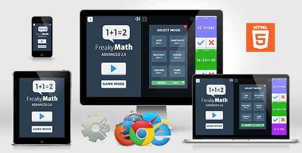 Freaky Math Advanced 2.0 - Educational HTML5 GAme - CodeCanyon Item for Sale