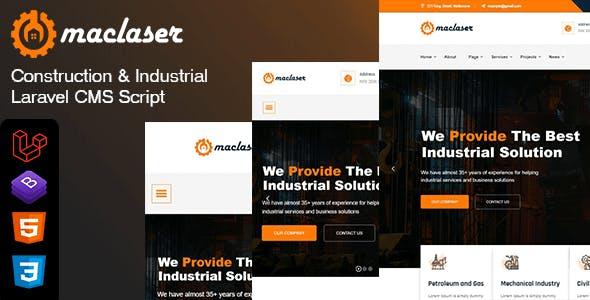 Maclaser - Construction & Industrial Laravel CMS Script