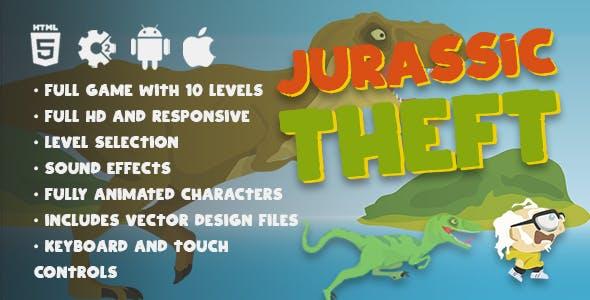 Jurassic Theft - HTML5 Dinosaur Vector Adventure Platformer Game