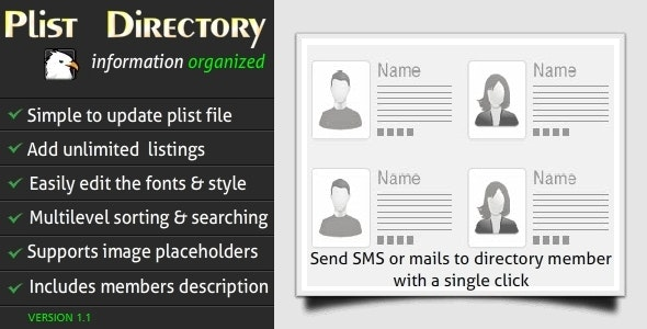 PList Directory With Multilevel Search & Sorting - CodeCanyon Item for Sale