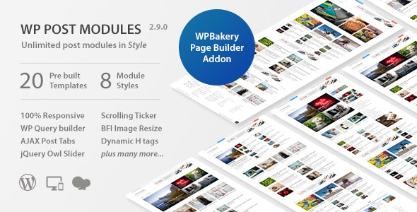 WP Post Modules for NewsPaper and Magazine Layouts - CodeCanyon Item for Sale