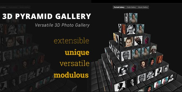 3D Pyramid Gallery - Advanced Media Gallery