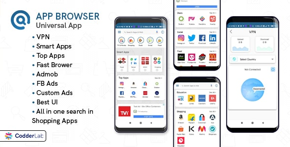 App Browser - All on one app with VPN - CodeCanyon Item for Sale