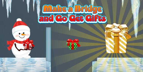 Make a Bridge and Go Get Gifts (CAPX and HTML5) Christmas Game