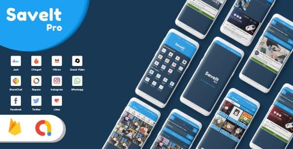 SaveItPro - Josh, Chingari, Mitron, SnackVideo, ShareChat, Roposo, Likee, Instagram Video Downloader