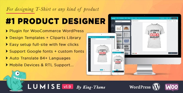 Product Designer for WooCommerce WordPress | Lumise - CodeCanyon Item for Sale