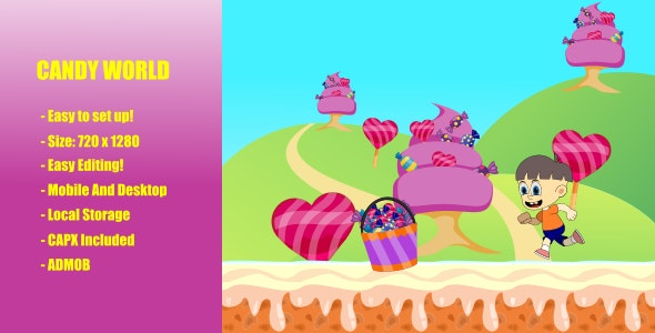Candy World   Construct 2   Admob - CodeCanyon Item for Sale