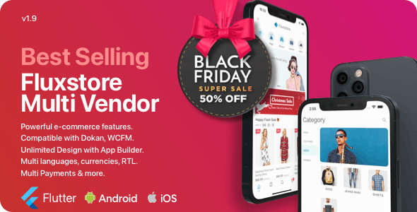 Fluxstore Multi Vendor - Flutter E-commerce Full App