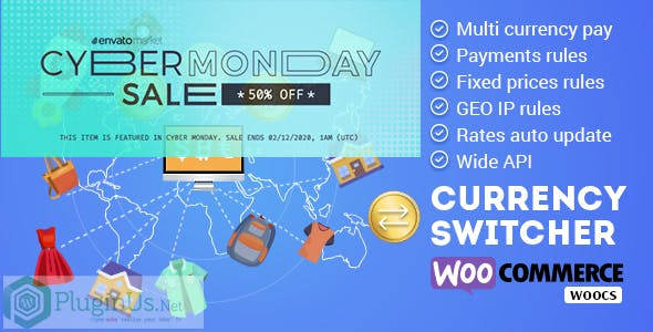 WOOCS - WooCommerce Currency Switcher - WooCommerce Multi Currency and WooCommerce Multi Pay
