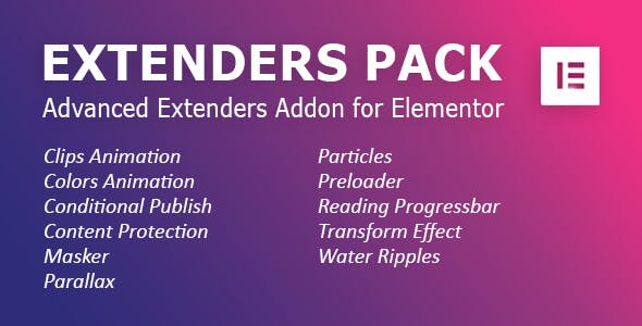 Extenders Pack: Advanced Extenders Addon for Elementor WordPress Plugin