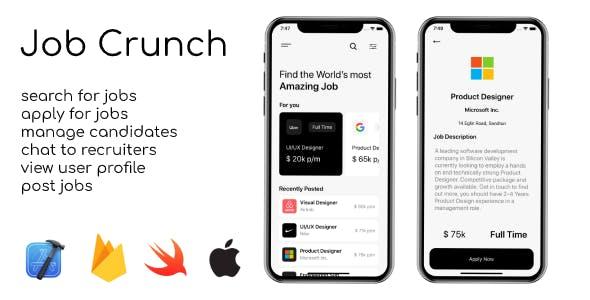 Job Crunch - iOS Job Finder App