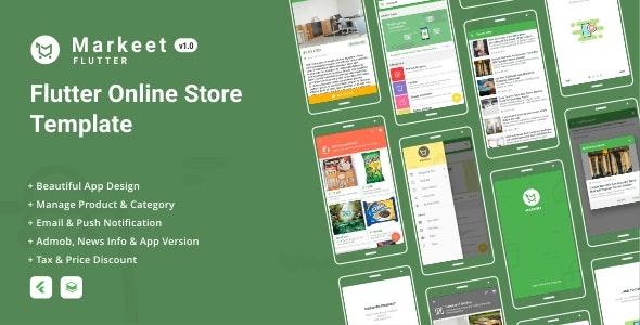 Markeet Flutter - Flutter Online Store 1.0 - CodeCanyon Item for Sale