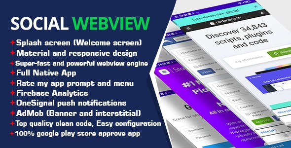 Social WebView Android App Template