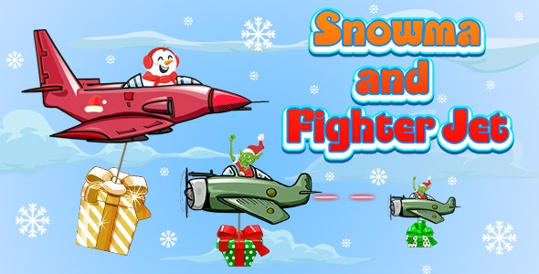 Snowman and Fighter Jet (CAPX and HTML5) Christmas Game - CodeCanyon Item for Sale