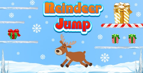 Reindeer Jump and Collect The Gifts (CAPX and HTML5) Christmas Game - CodeCanyon Item for Sale