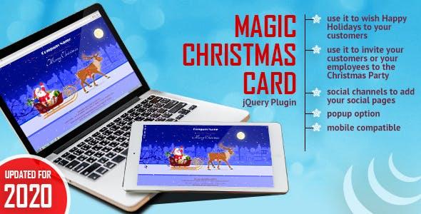Magic Christmas Card With Animation
