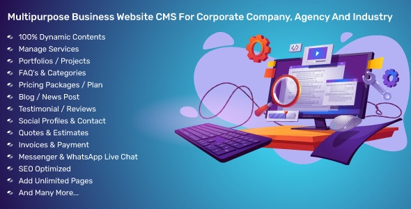 Multipurpose Business Website CMS For Corporate Company, Agency And Industry - CodeCanyon Item for Sale