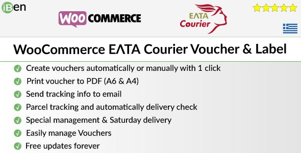 WooCommerce ELTA Courier Voucher & Label