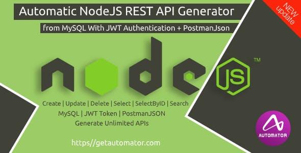 NodeJS REST API Generator from MySQL + Postman Json + JWT Auth - Windows