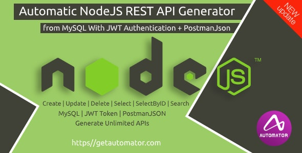 NodeJS REST API Generator from MySQL + Postman Json + JWT Auth - Windows - CodeCanyon Item for Sale